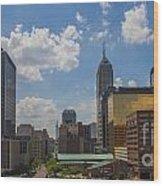 Indianapolis Skyline June 2013 Wood Print by David Haskett