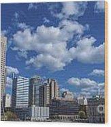 Indianapolis Skyline Low Wood Print
