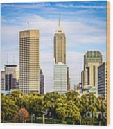 Indianapolis Skyline Picture Wood Print
