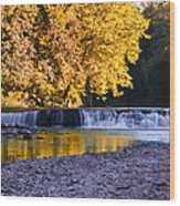Indianhead Dam - Perkiomen Creek Wood Print