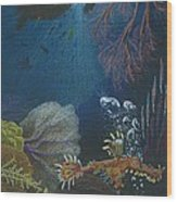 Indigenous Aquatic Creatures Of New Guinea Wood Print by Beth Dennis