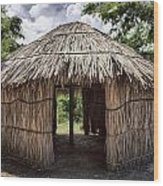 Indigenous Tribe Huts In Puer Wood Print