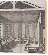 Indigo Dye Factory, 18th Century Wood Print