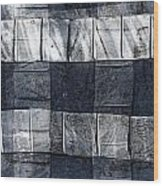 Indigo Squares 1 Of 5 Wood Print