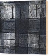 Indigo Squares 4 Of 5 Wood Print