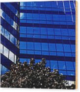 Indigo Tower Wood Print