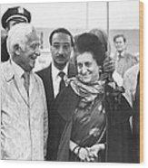 Indira Gandhi At Jfk Airport Wood Print