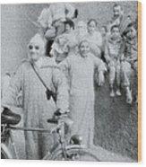 The Cyclist Wood Print