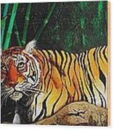 Indochinese Tiger Wood Print
