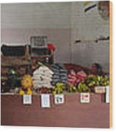 Indoor Market Wood Print