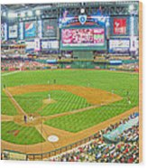 Indoors At Chase Field Wood Print