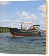 Industrial Cargo Ship Wood Print
