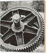 Industrial Gear Wood Print
