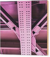 Industrial Metal Purple Wood Print