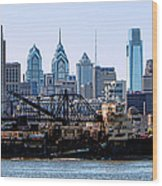Industrial Philadelphia Wood Print by Olivier Le Queinec