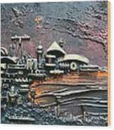 Industrial Port-part 1 By Rafi Talby Wood Print