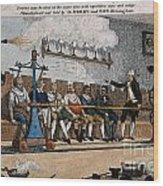 Industrial Shaving Machine 1770 Wood Print