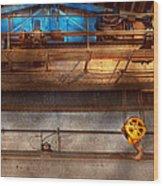 Industrial - The Gantry Crane Wood Print