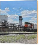 Industrial Train Wood Print