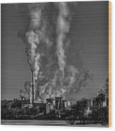 Industry In Black And White 2 Wood Print