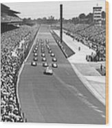 Indy 500 Parade Lap Wood Print
