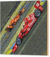 Indy Car's Tony Kanaan Wood Print by Blake Richards