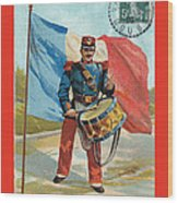 Infantry Of The Line Drummer With Fgb Border Wood Print