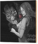 Infatuated  Roses Wood Print