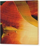 Inferno In Lower Antelope Canyon-az Wood Print