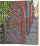 Infinite Red Doors Wood Print