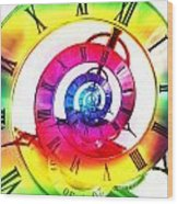 Infinite Time Rainbow 3 Wood Print