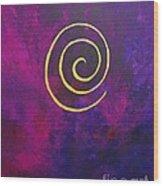 Infinity - Deep Purple With Gold Wood Print