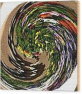 Infinity Flower Spiral 1 Wood Print