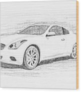 Infinity G37 Coupe Wood Print