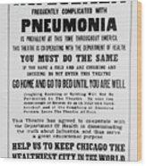 Influenza Poster Wood Print