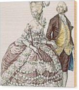 Informal Wedding Dress, Engraved Wood Print