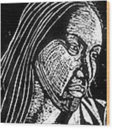 Ingrid Washinawatok Wood Print by Jane Madrigal
