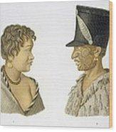 Inhabitants Of New Zealand, 1826 Wood Print