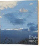 Inkblot Clouds 1 Wood Print