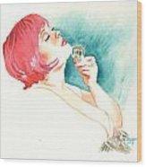 Inktober 15 Pink Wood Print