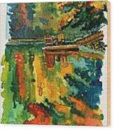 Inktober 21 Color Field Wood Print