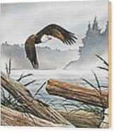 Inland Sea Eagle Wood Print