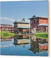 Inle Lake - Myanmar Wood Print