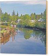 Inlet Of The Columbia River At Skamokawa Washington Wood Print