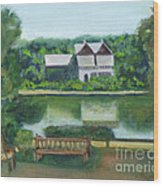 Inn At Lambertville Station Wood Print