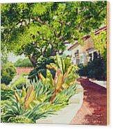 Inn At Rancho Santa Fe Wood Print by Mary Helmreich