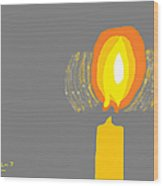 Inner Flame Wood Print by Anita Dale Livaditis
