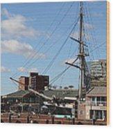 Inner Harbor At Baltimore Md - 12128 Wood Print