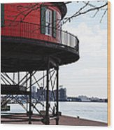 Inner Harbor Lighthouse - Baltimore Wood Print