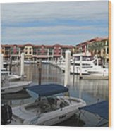 Inner Harbor - Naples Wood Print